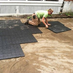laying paver base patio