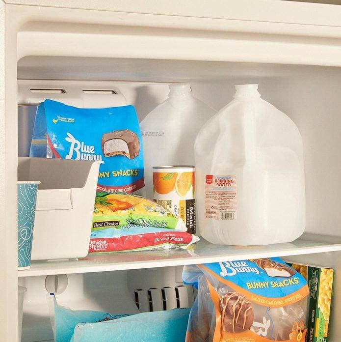 Freezer jugs of water ice cream treats