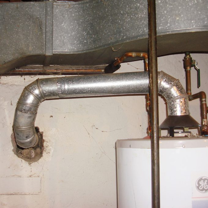 incorrect water heater vent installed