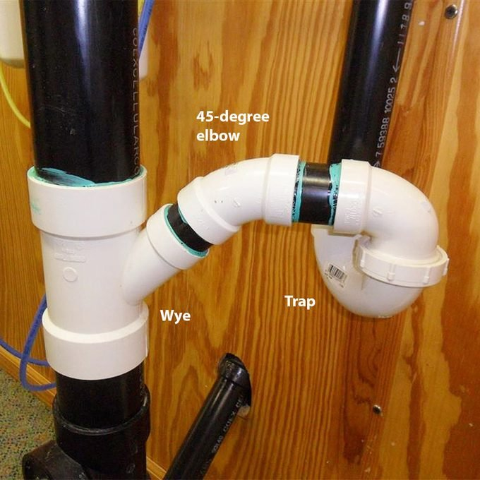 bad trap connection to vertical drain
