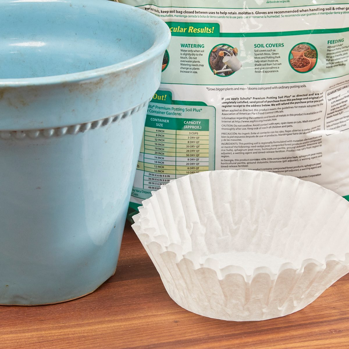 Coffee Filter Dirt Stopper 1