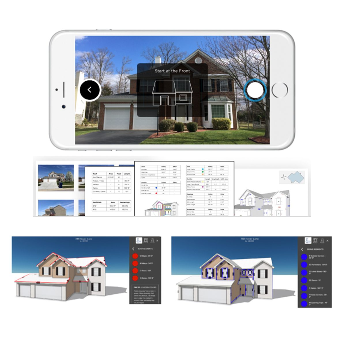 Screenshots from an app for home quotes | Construction Pro Tips
