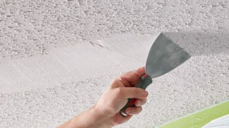 Image result for Removing a Popcorn Ceiling