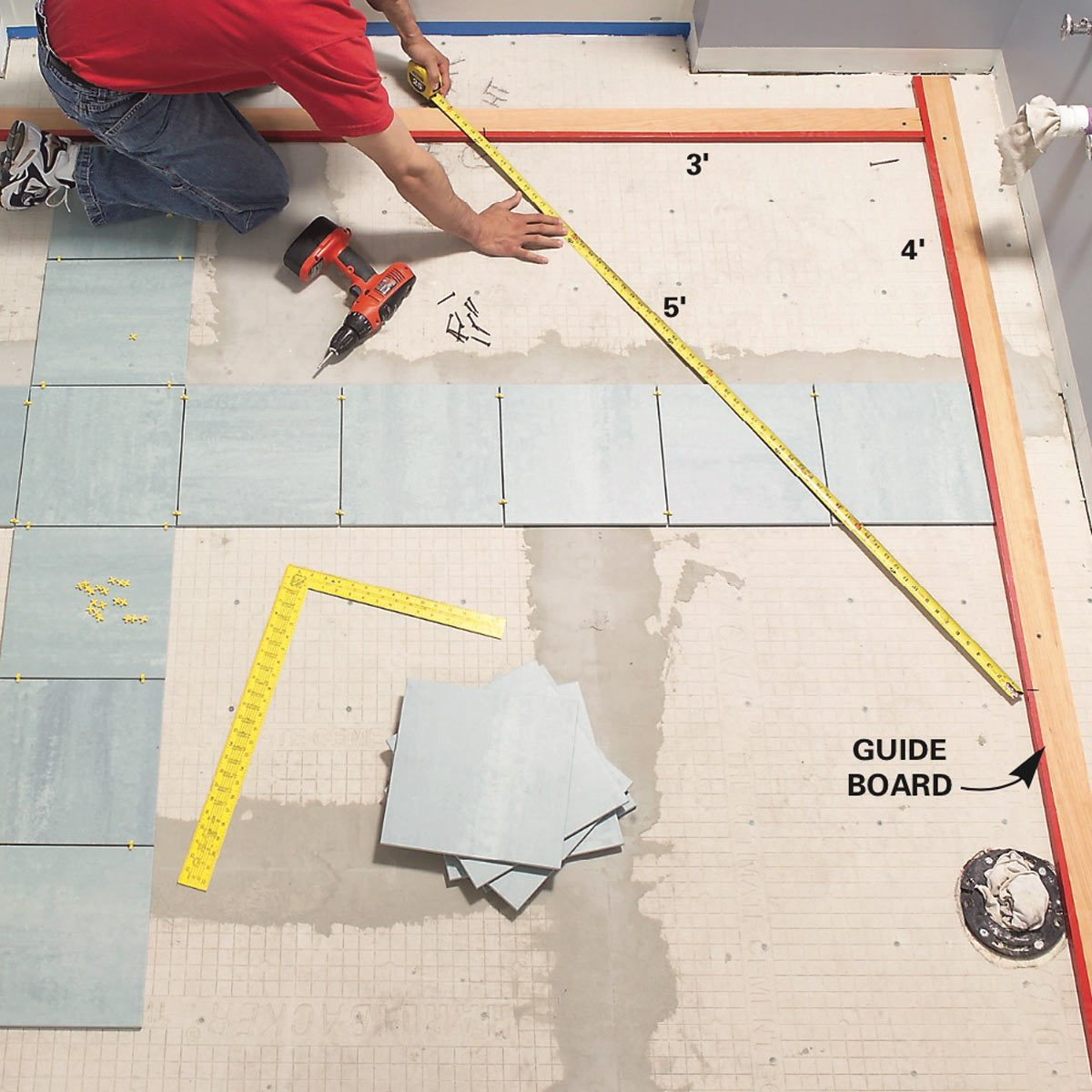 How To Lay Tile: Install A Ceramic Tile Floor In The Bathroom