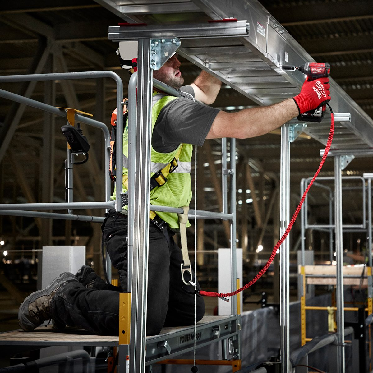 Milwaukee Tool Lanyard connected to drill | Construction Pro Tips