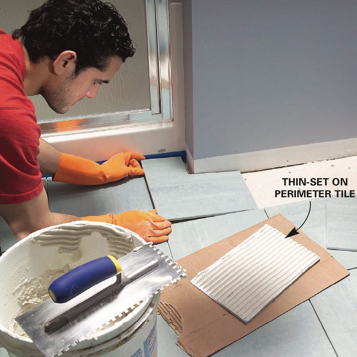 Which Direction To Lay Tile In Bathroom: How To Lay Tile: Install A Ceramic Tile Floor In The