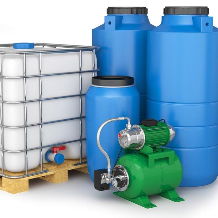 water cistern water storage