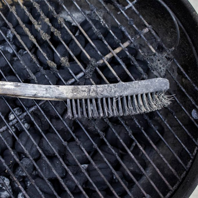 old dirty grill brush
