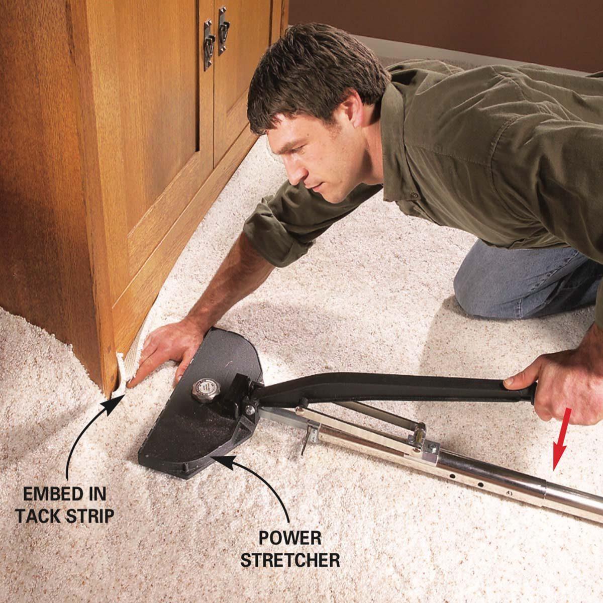 How To Restretch A Carpet The Family