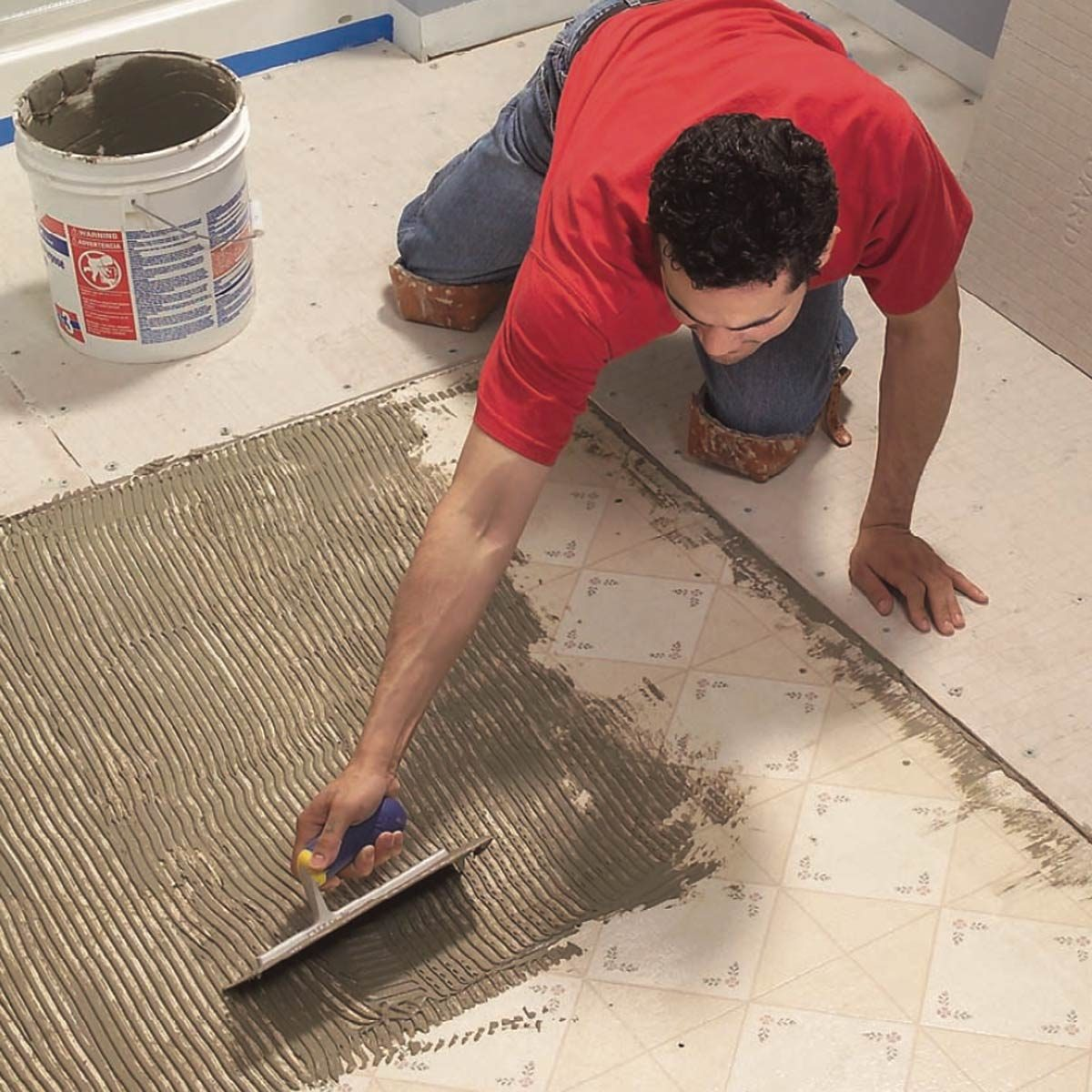 How To Lay Tile Install A Ceramic Tile Floor In The