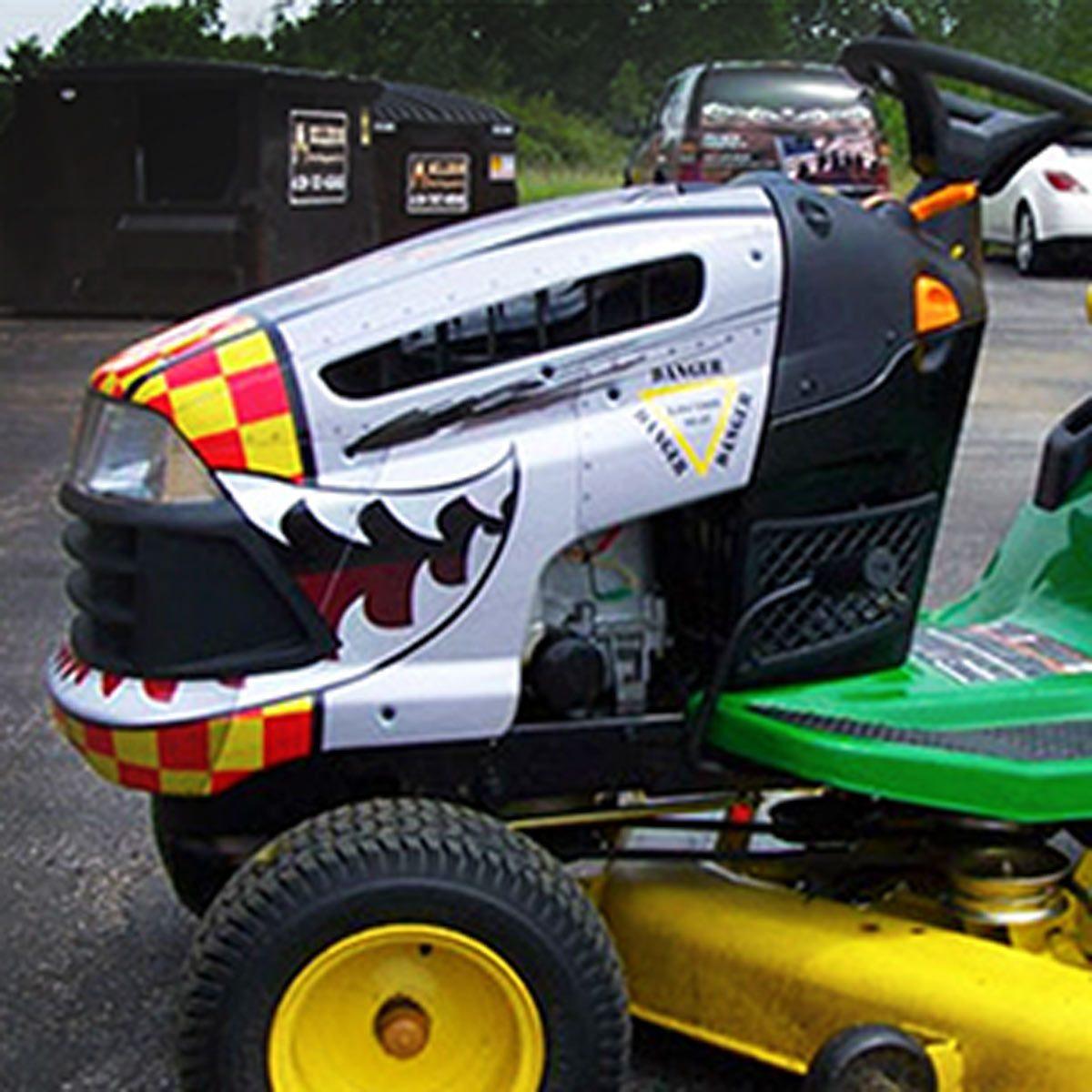 decals hot rod lawn mower