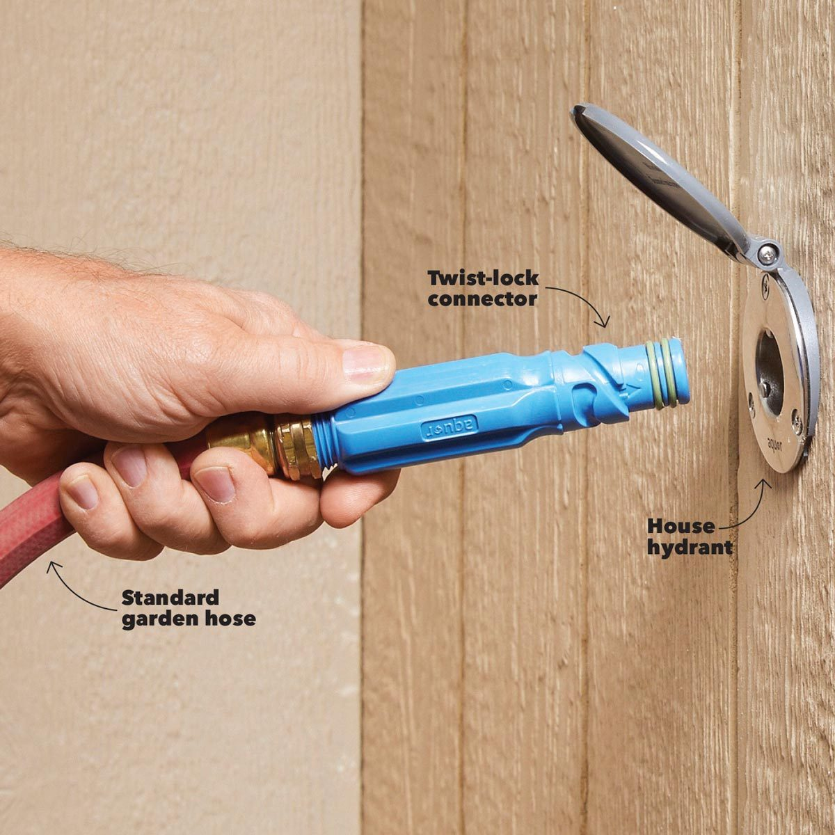 aquor twist and lock hose connector watering