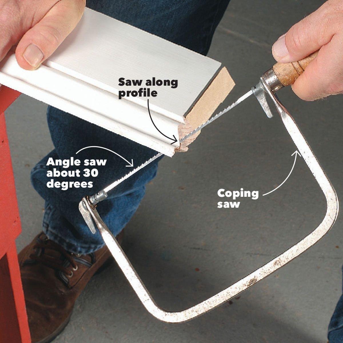 cut the corners baseboard trim