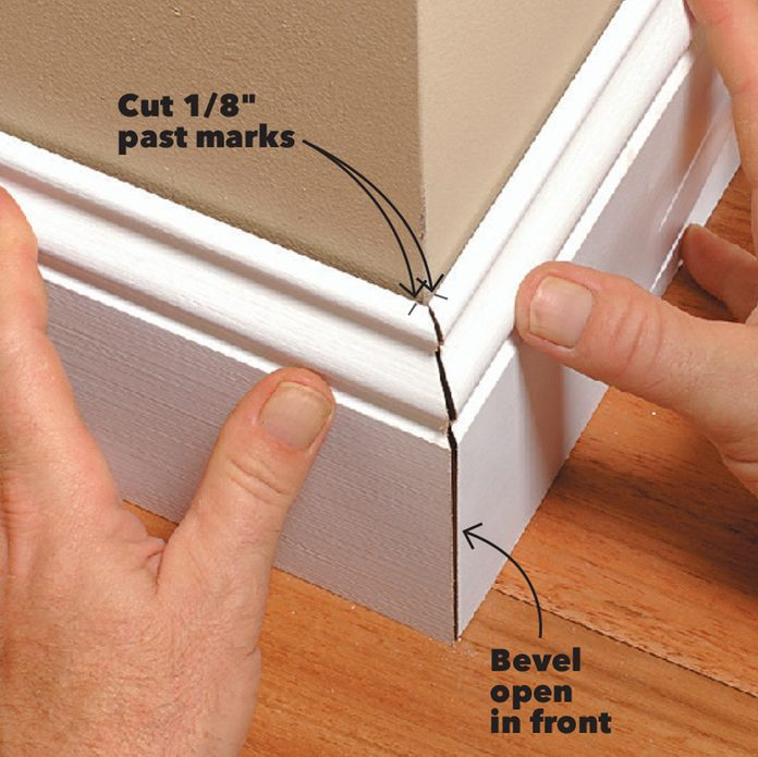 check the baseboard fit