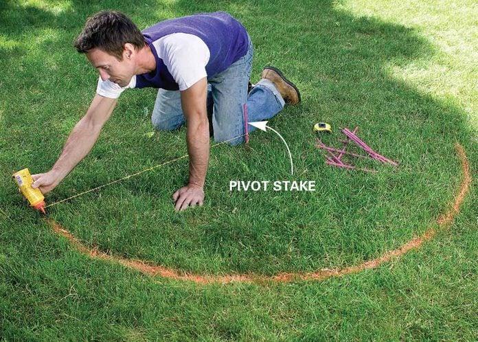 pivot stake garden trellis