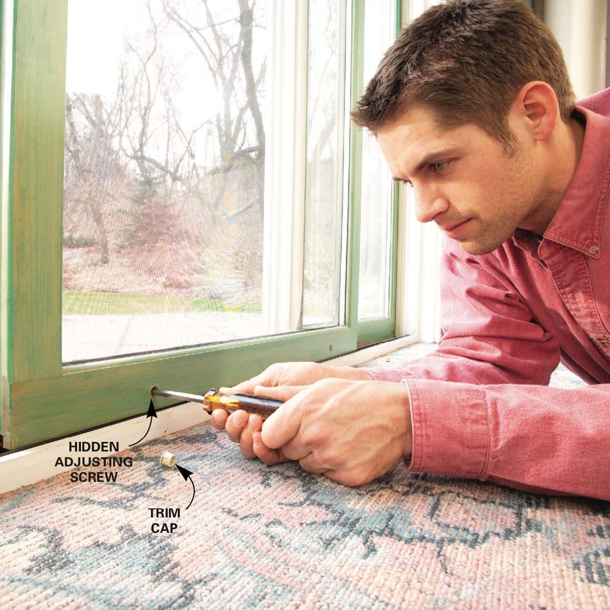 How To Repair A Sliding Door Diy The Family Handyman