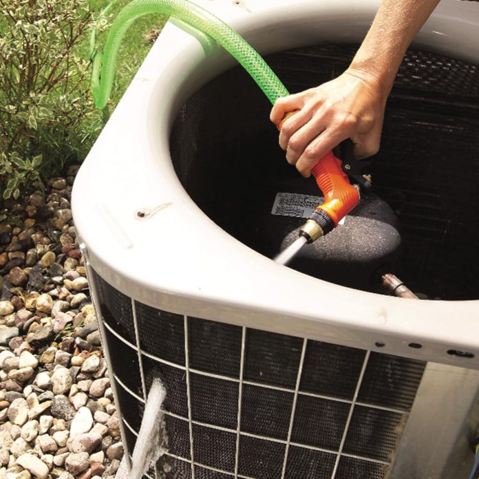 clean air conditioner fins
