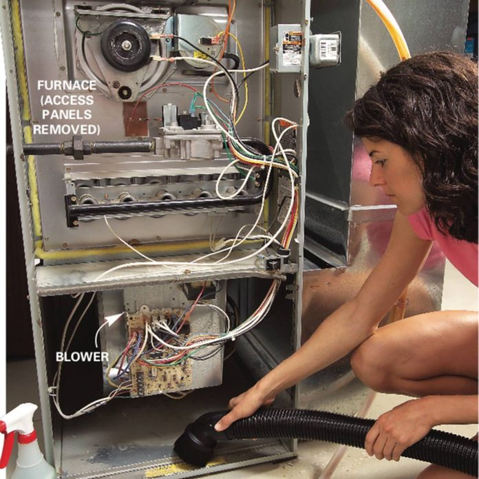 Vacuum and lubricate furnace