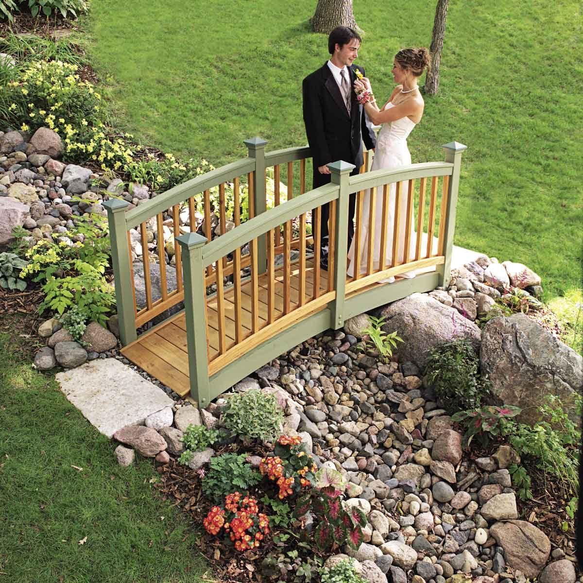 Classic Arched Backyard Bridge