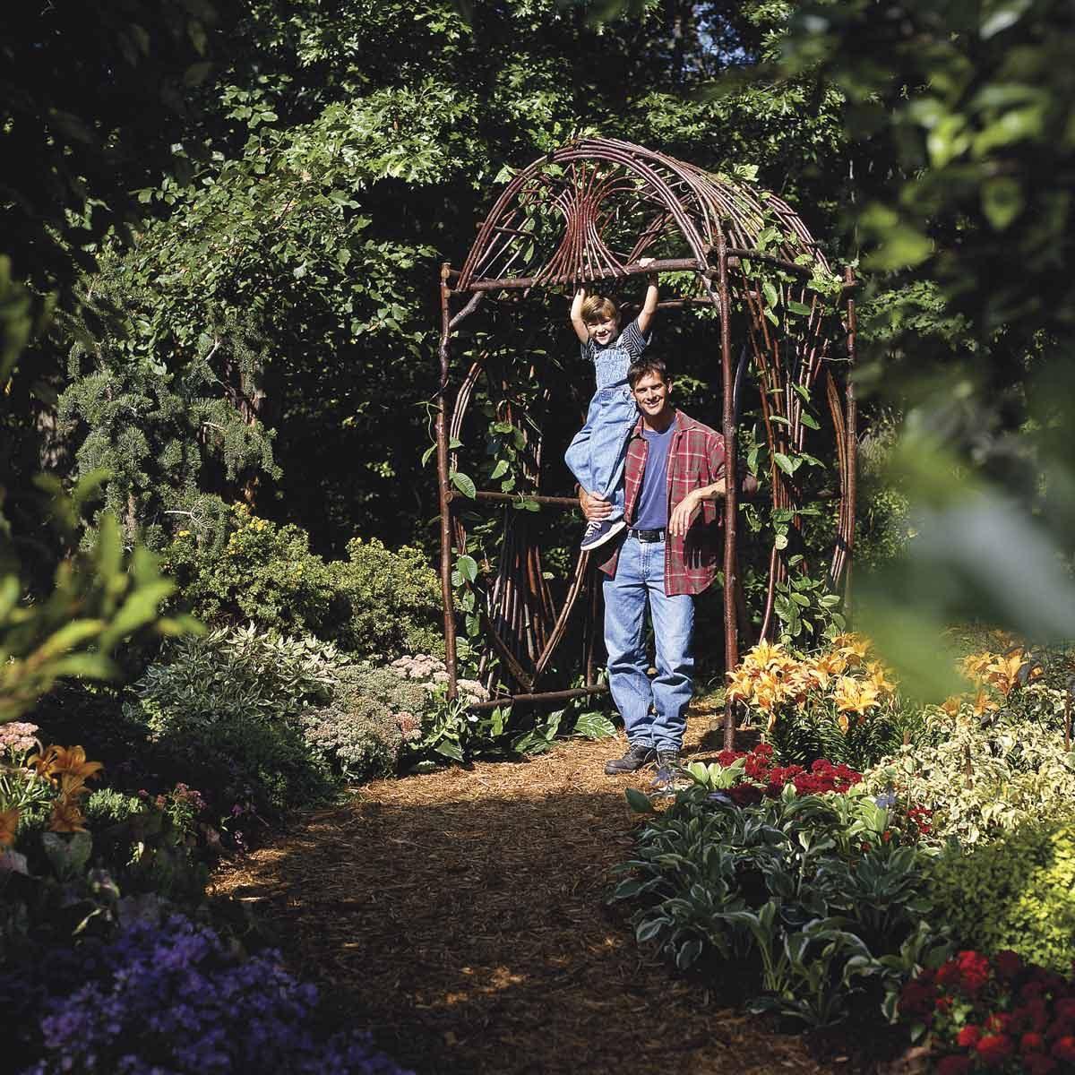 How to Bend Saplings into a Beautiful Backyard Arbor