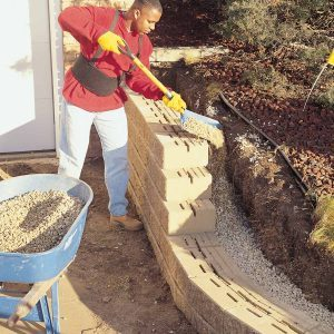 How to Build a Retaining Wall Stronger | The Family Handyman