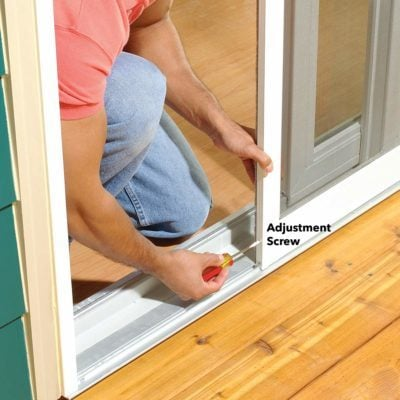sticking screen door fix
