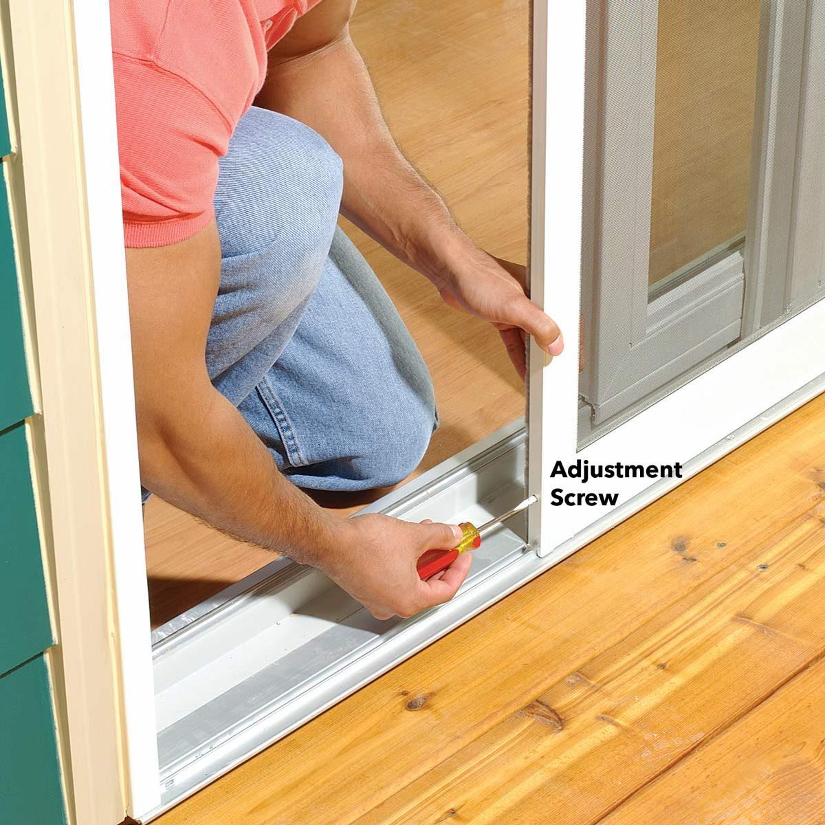 How To Adjust A Sticking Patio Screen Door Family Handyman