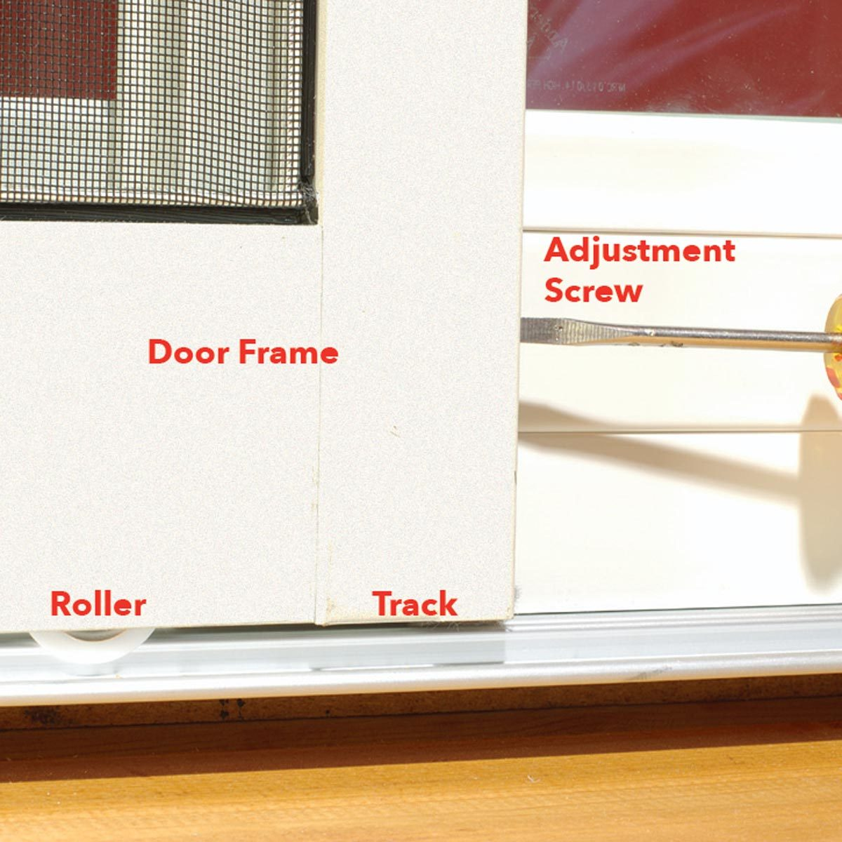 How To Adjust a Sticking Patio Screen Door | Family Handyman