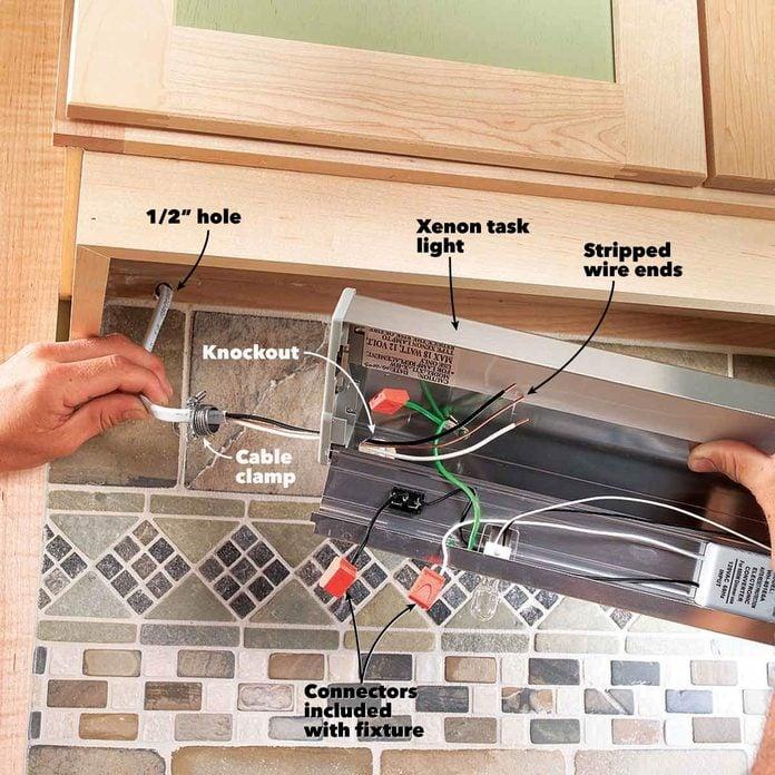 secure under cabinet lighting fixture