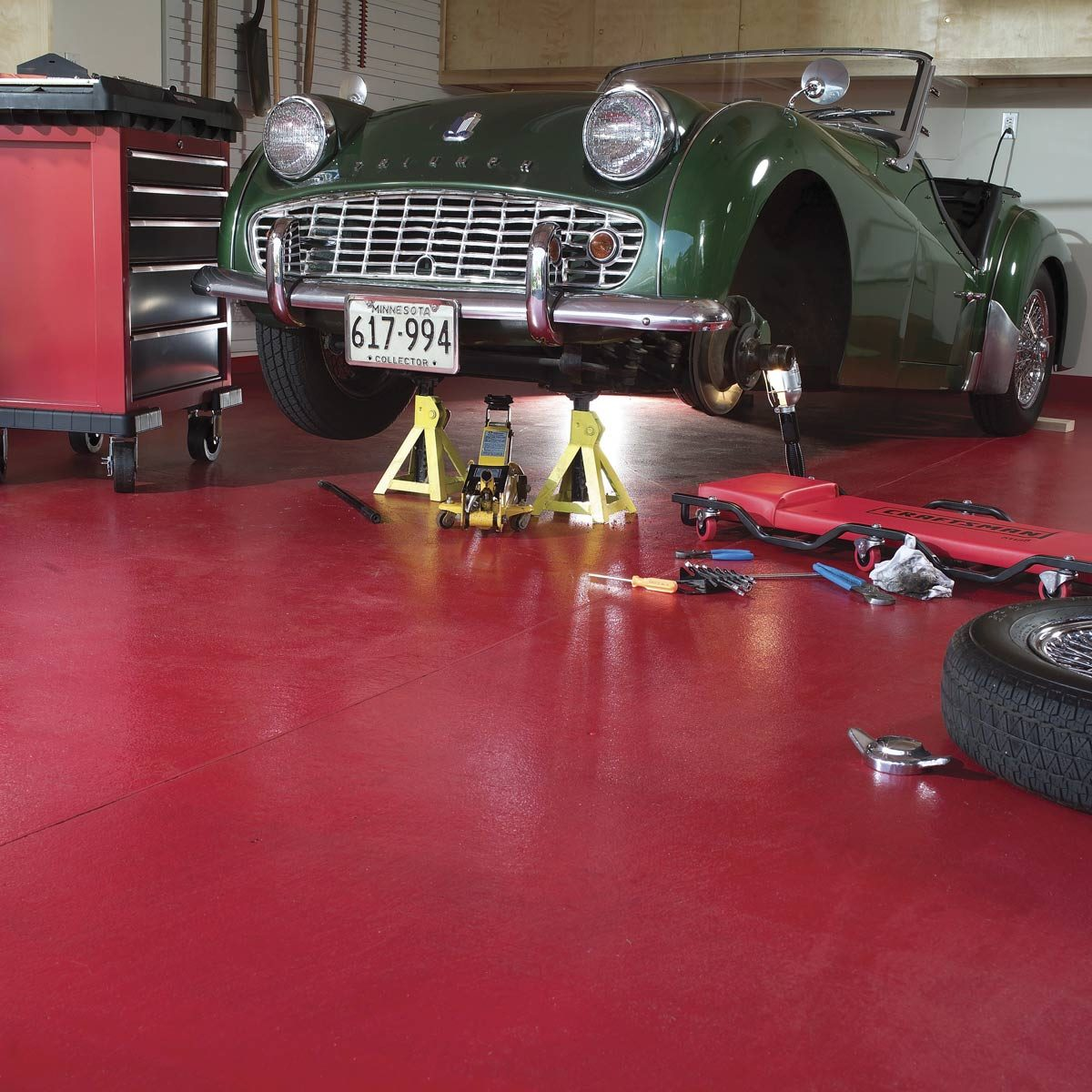 How To Apply Epoxy Flooring To Your Garage Family Handyman