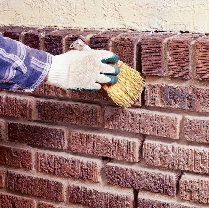 clean mortar joints
