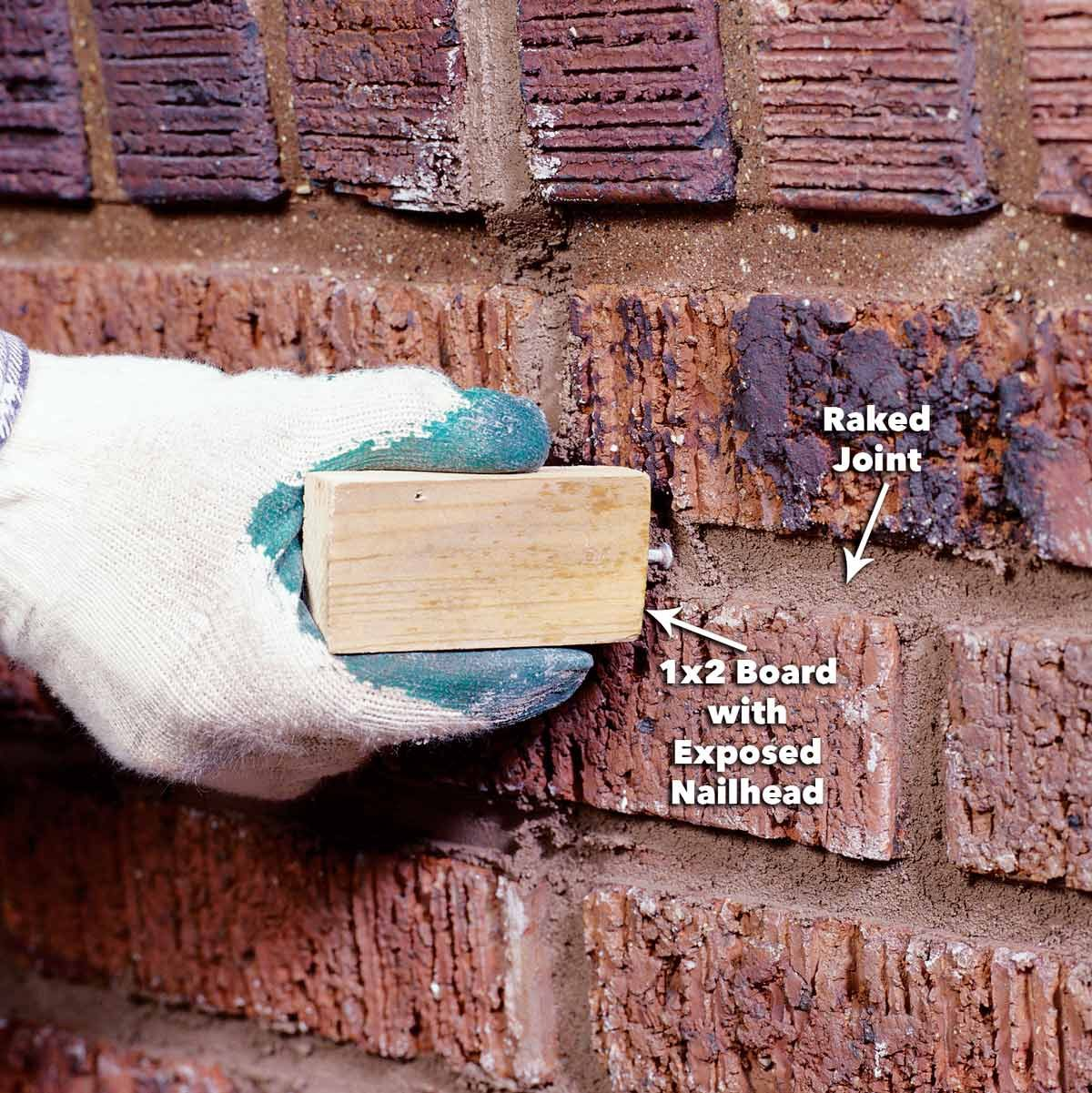 rake the mortar joints