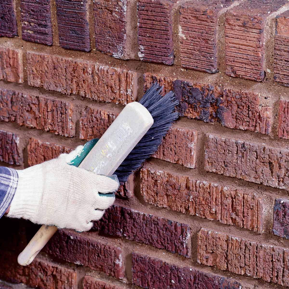 clean bricks mortar joints