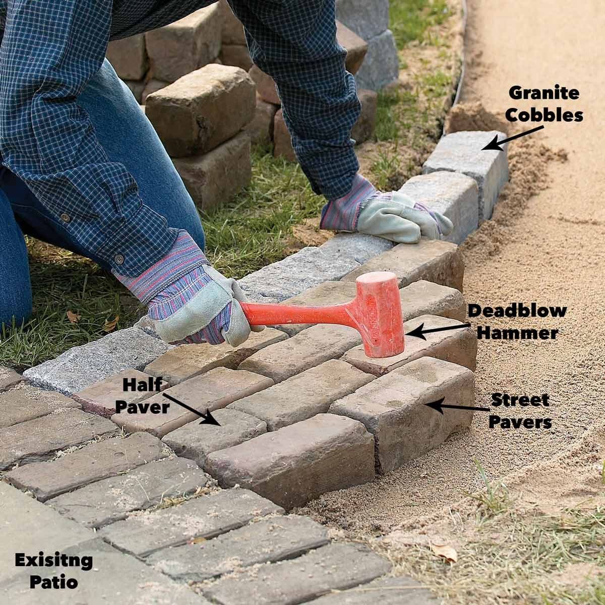 Laying Pavers Over Dirt: Build A Brick Pathway In The Garden