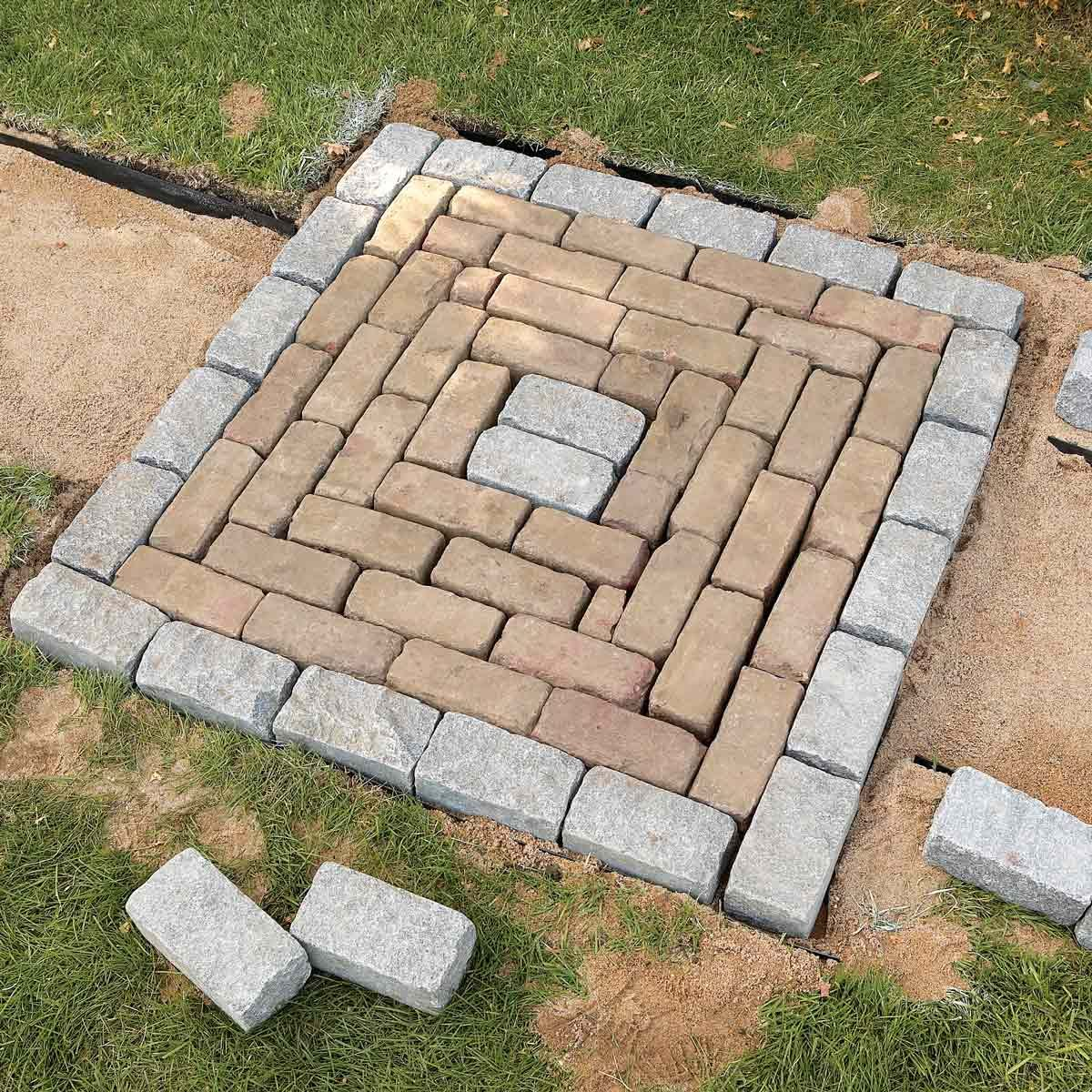 Build A Brick Pathway In The Garden The Family Handyman
