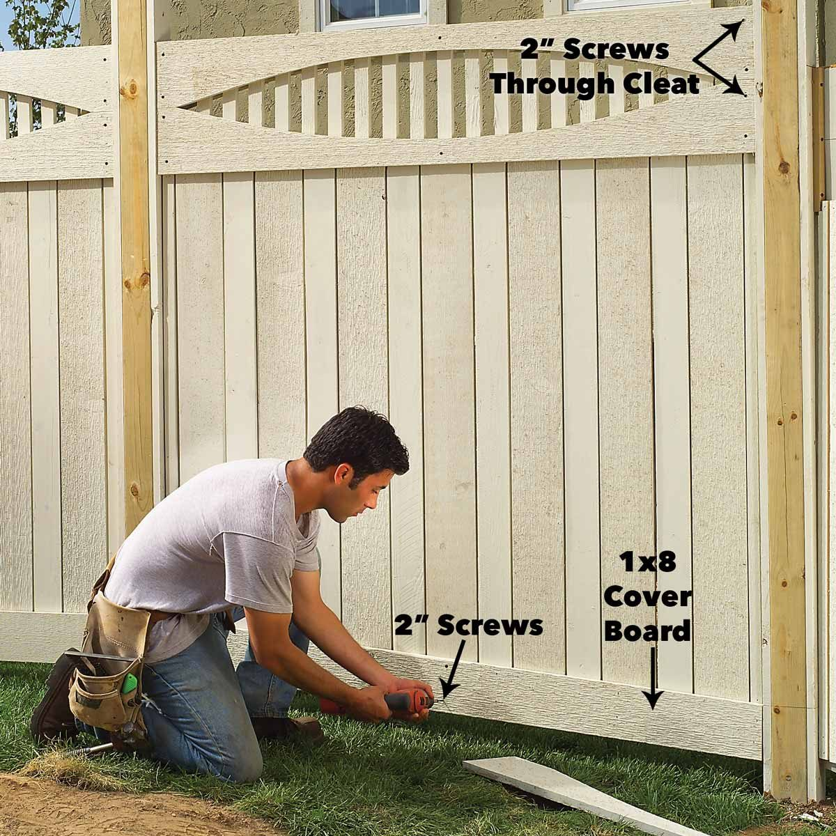 Add Second Rail boards to fence