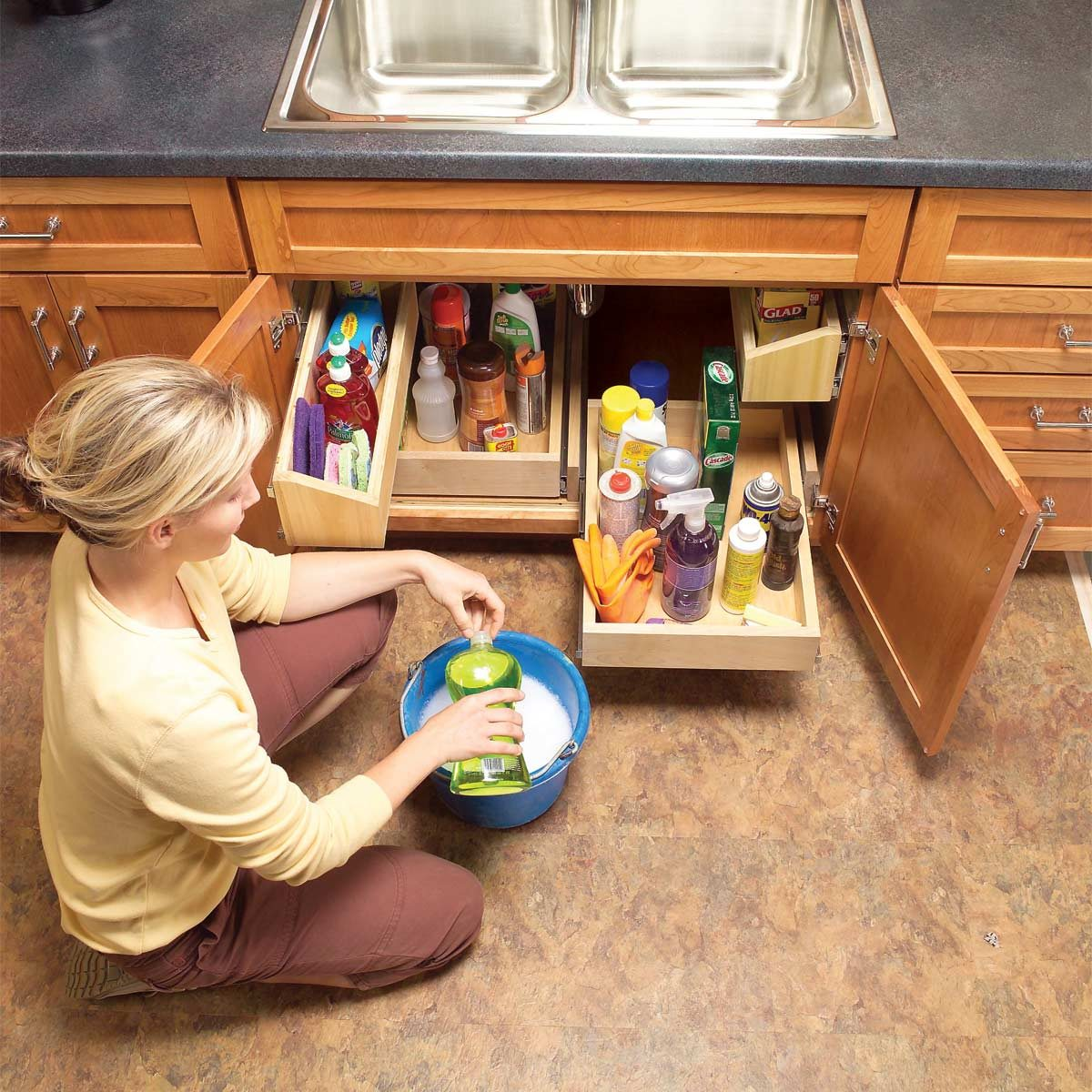 Kitchen Storage Solutions Diy: Kitchen Cabinet Storage Solutions: DIY Pull Out Shelves