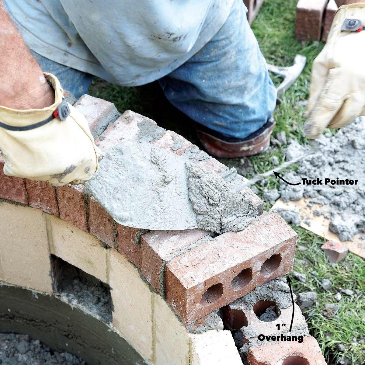fill gaps in fire pit brick