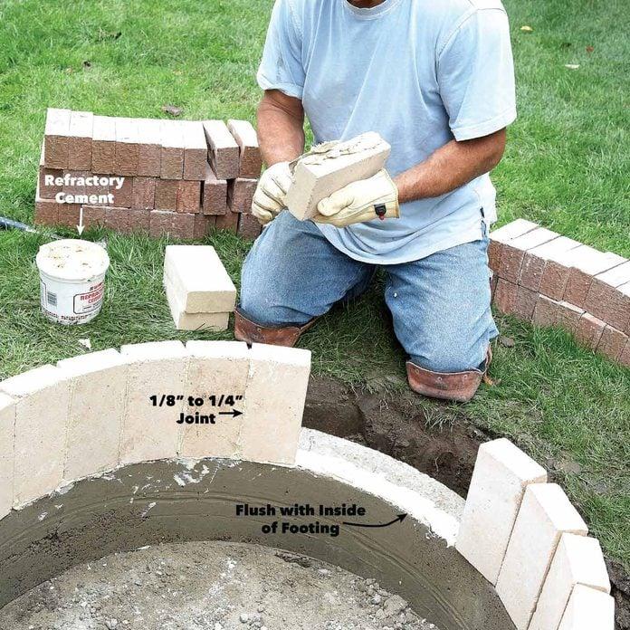 mortar the firebrick