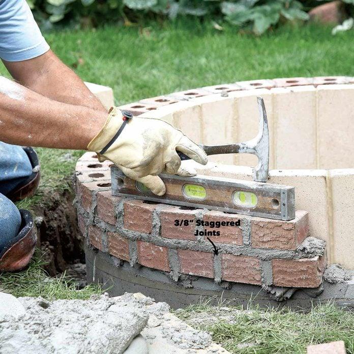 lay fire pit brick