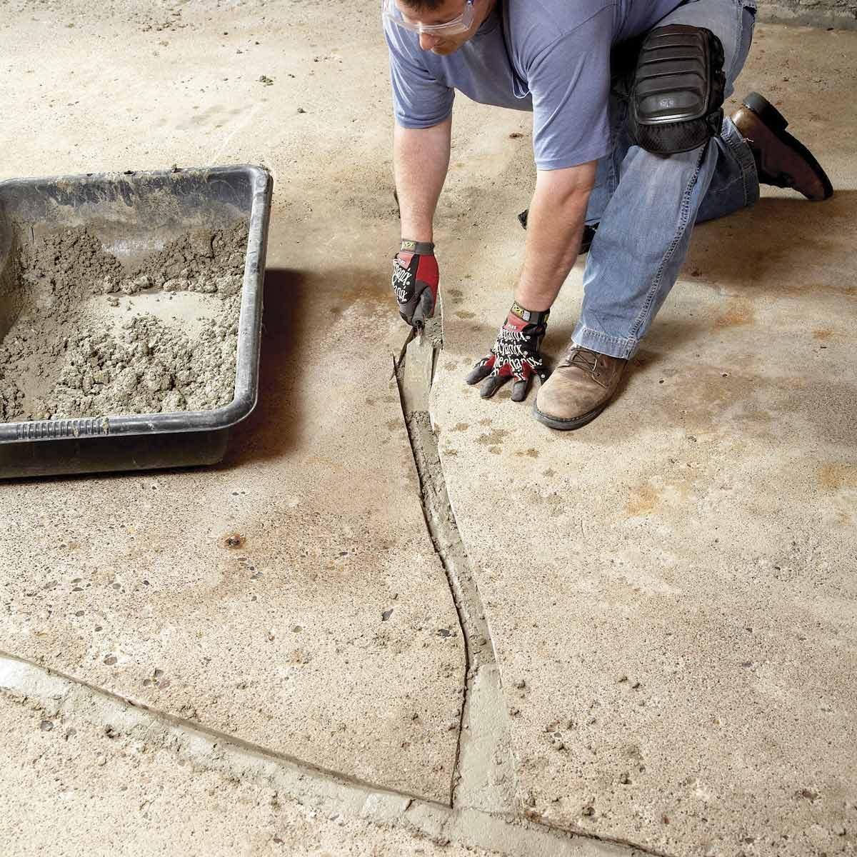 Diy Concrete Crack Repair Family Handyman