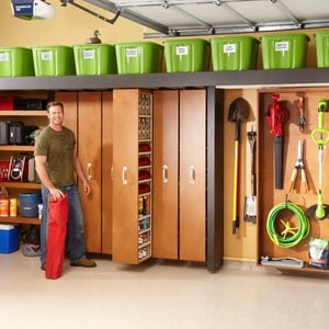 Garage Storage: Space-Saving Sliding Shelves