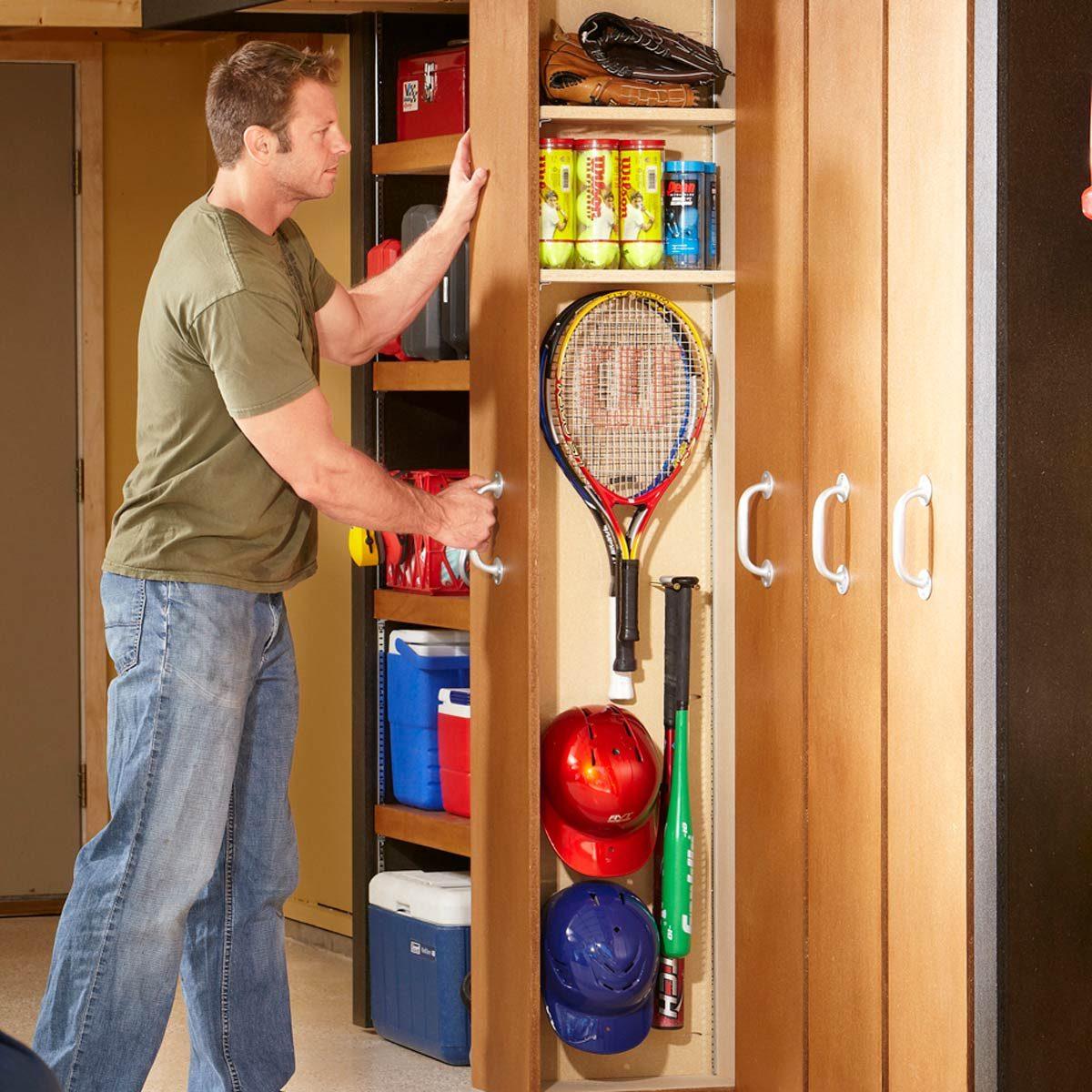 Garage Storage Space Saving Sliding Shelves Family Handyman