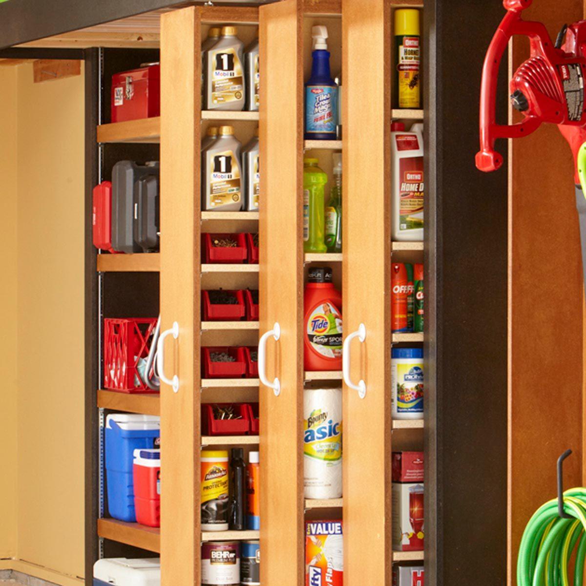 Marvelous Garage Storage Space Saving Sliding Shelves Family Handyman Download Free Architecture Designs Scobabritishbridgeorg