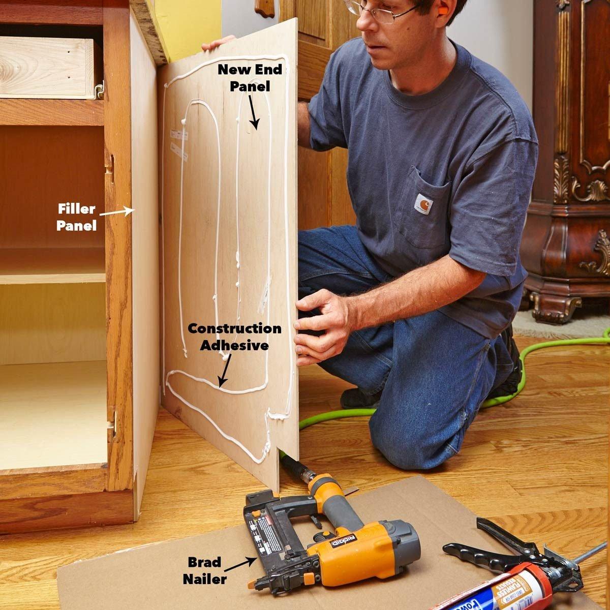 install cabinet refacing end panels cabinet door refacing