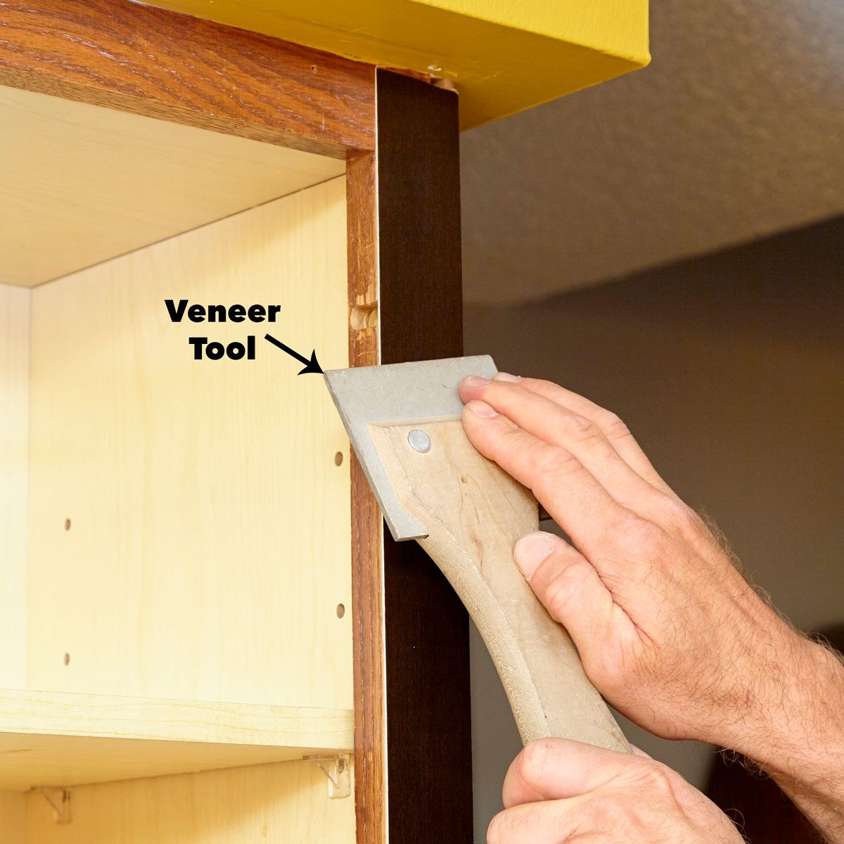 Press The Veneer Cabinet Door Refacing Kitchen Cabinets