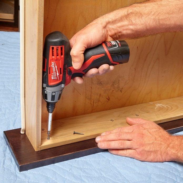 attach drawer front