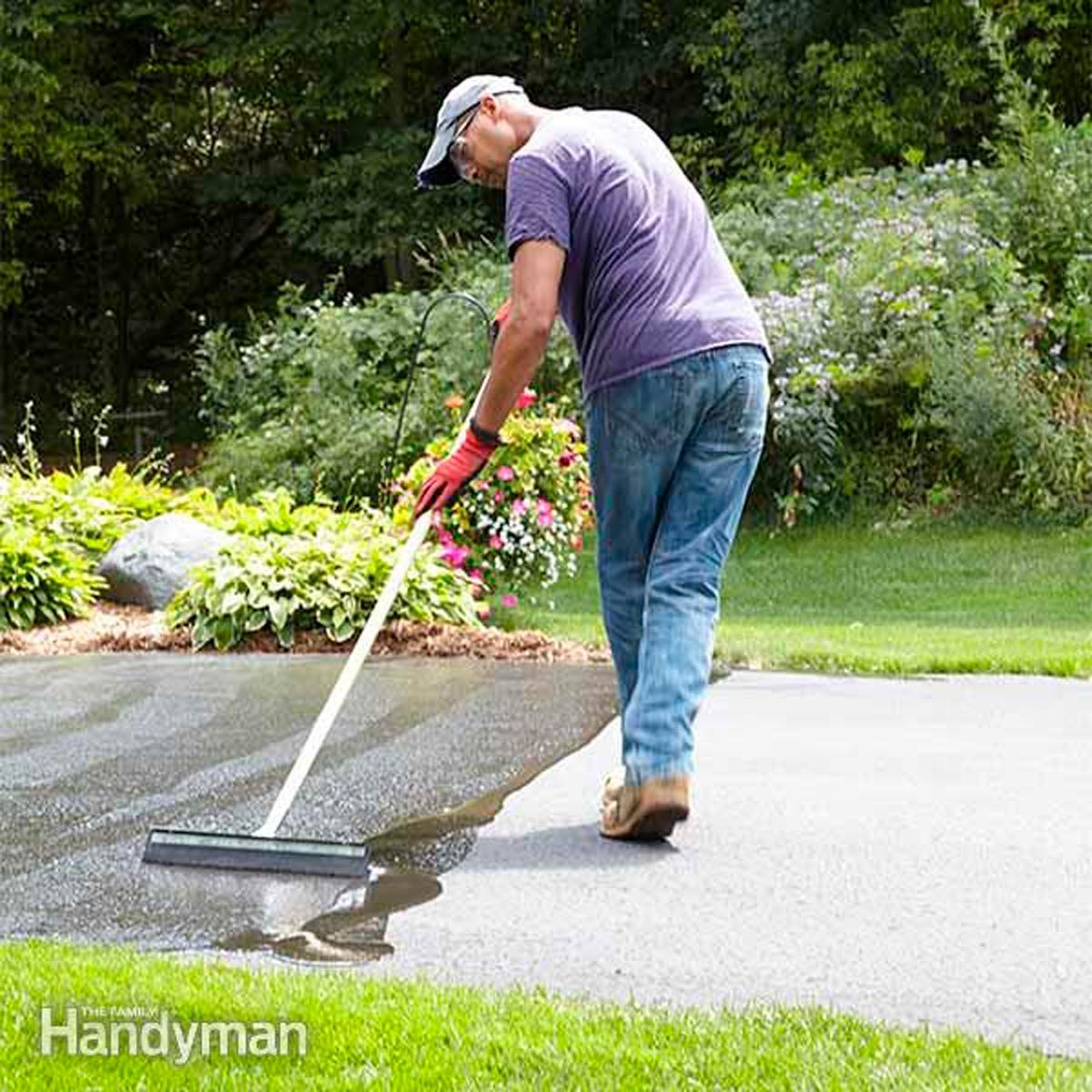 How To Seal An Asphalt Driveway Family Handyman The