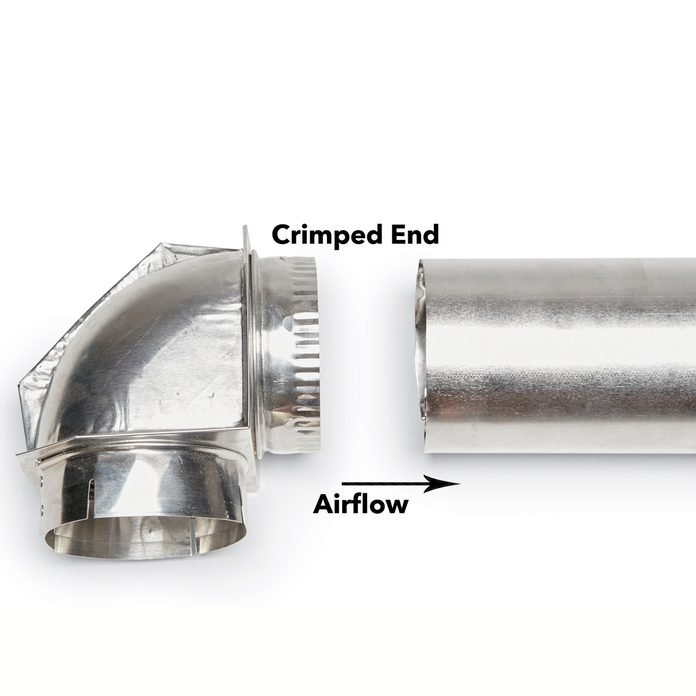 crimped end airflow dryer duct