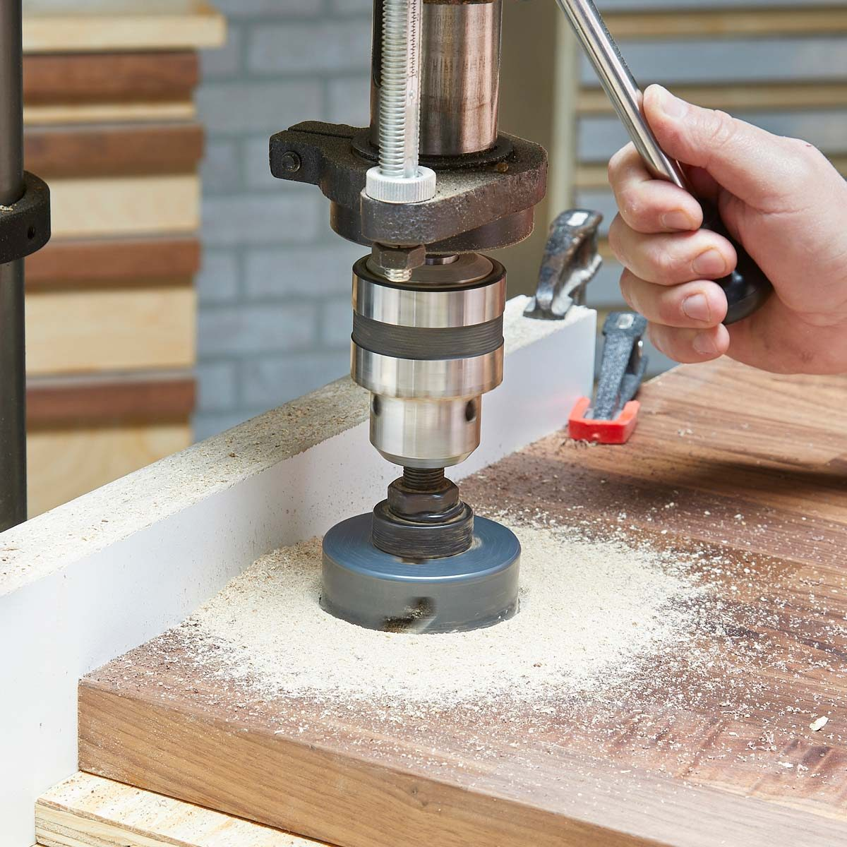 hole saw drill press